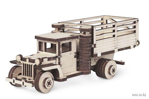 """Сборная деревянная модель """"Грузовичок ЗИС-5 ВБ с кузовом"""" — фото, картинка"""