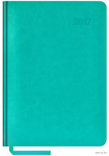 """Ежедневник датированный """"Sarif"""", 2017 (А5; 176 листов; бирюзовый)"""