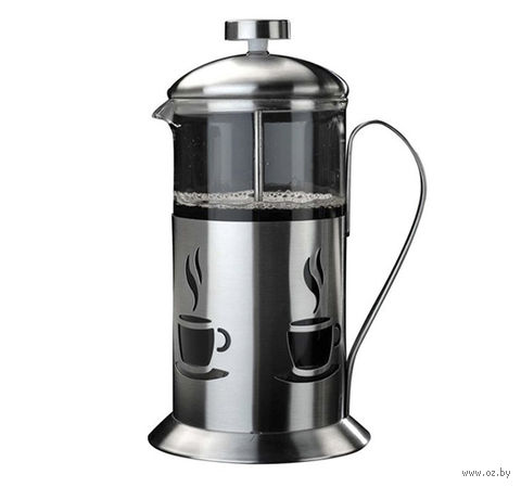 Кофейник с прессом, стекло/металл, 350 мл (арт. 2800119)