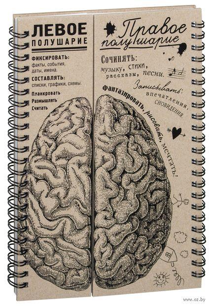 """Блокнот """"Мозги. Правое полушарие"""" (А5) — фото, картинка"""
