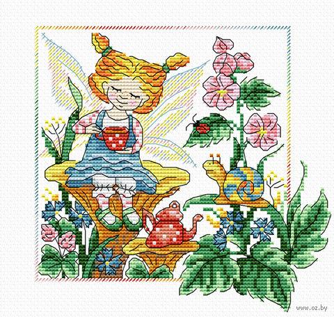 """Вышивка крестом """"Лесной ангел"""" (180х180 мм) — фото, картинка"""