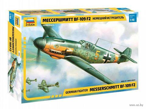 """Сборная модель """"Немецкий истребитель """"Мессершмитт"""" BF-109 F2"""" (масштаб:1/48) — фото, картинка"""