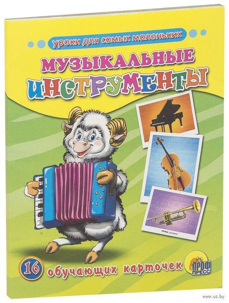 Музыкальные инструменты. 16 обучающих карточек