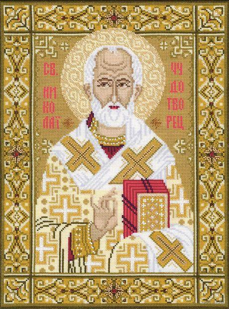 """Вышивка крестом """"Св. Николай Чудотворец"""" (арт. 1034)"""