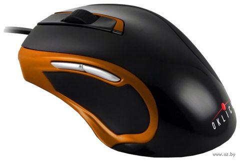 Проводная мышь Oklick 620L Black/Orange — фото, картинка