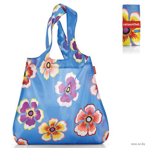 """Сумка складная """"Mini maxi shopper"""" (flowers blue)"""