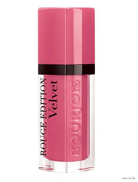 """Помада-флюид для губ """"Rouge Edition Velvet"""" тон: 11, ярко-розовый — фото, картинка"""