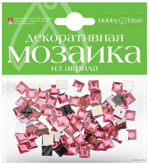 Мозаика декоративная из акрила №22 (8х8 мм; 100 шт.; розовый) — фото, картинка