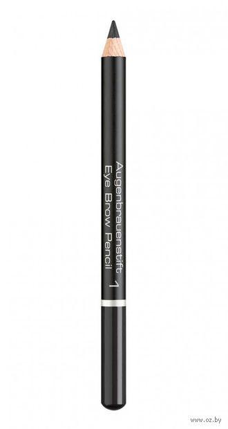 "Карандаш для бровей ""Eye Brow Pencil"" (тон: 1, black) — фото, картинка"
