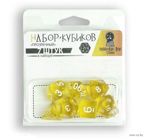 "Набор кубиков ""Прозрачный"" (7 шт.; желтый) — фото, картинка"