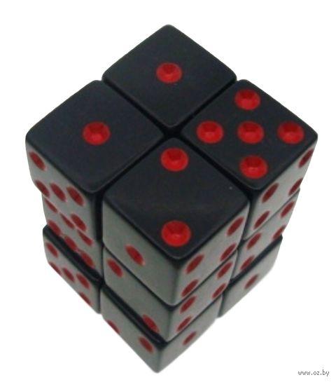 """Набор кубиков D6 """"Симпл"""" (16 мм; 12 шт.; чёрно-красный) — фото, картинка"""