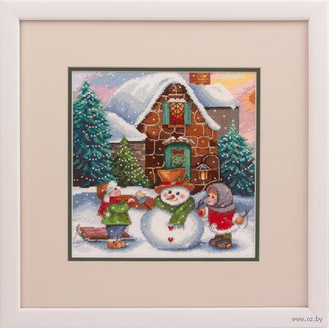 """Вышивка крестом """"Зима во дворе"""" (190х200 мм) — фото, картинка"""