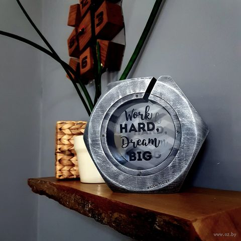 "Копилка ""Гайка. Work hard, Dream Big"" (арт. BN-4.008) — фото, картинка"