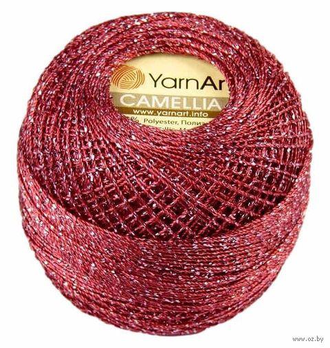 """Пряжа """"YarnArt. Camellia №426"""" (20 г; 190 м; бордо-серебро) — фото, картинка"""