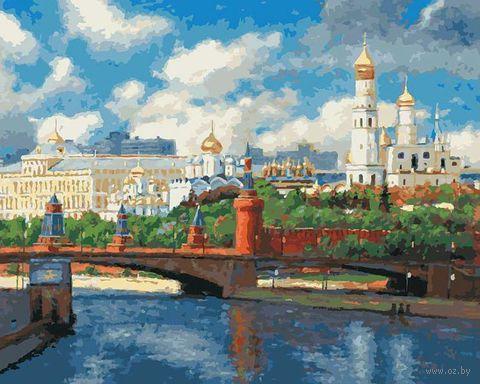 "Картина по номерам ""Московский Кремль"" (400х500 мм)"