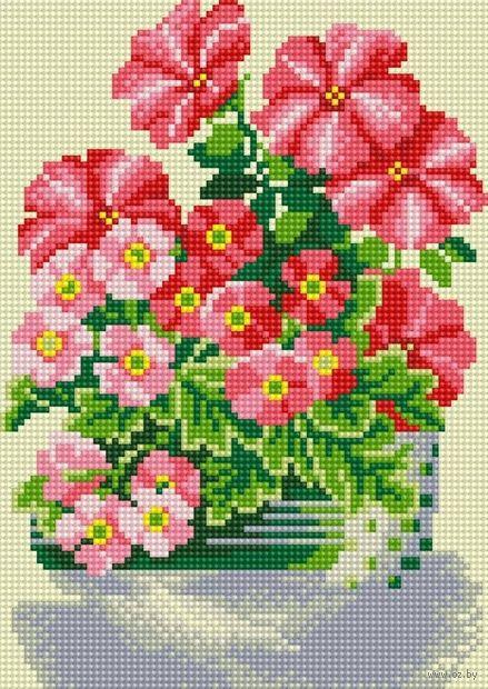 "Алмазная вышивка-мозаика ""Милые цветы"" (300х200 мм) — фото, картинка"