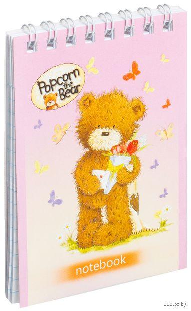 """Блокнот """"Popcorn the Bear"""" (А7; 40 листов)"""