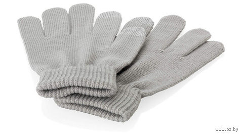 """Перчатки для сенсорного экрана """"Fabrice"""" (S/M, серые)"""