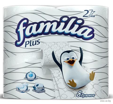"""Туалетная бумага """"Familia Plus"""" (8 рулонов) — фото, картинка"""