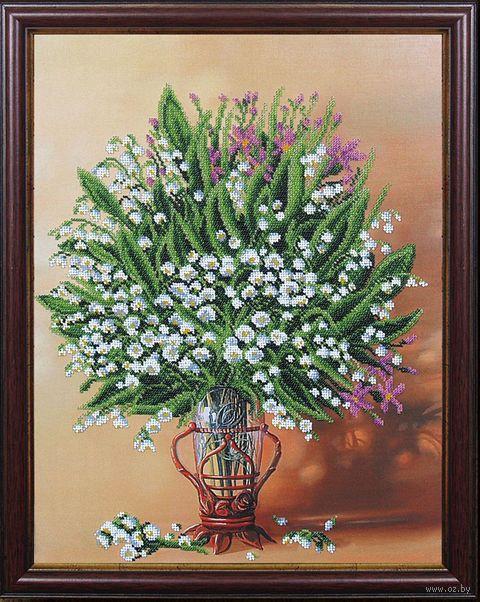 """Вышивка бисером """"Весенняя ваза"""" (335х440 мм) — фото, картинка"""