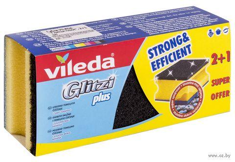 """Губка для мытья посуды """"Glitzi Plus"""" (3 шт.) — фото, картинка"""