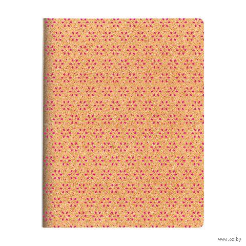 """Тетрадь со сменным блоком """"Пробка. Цветы"""" (160 листов; в ассортименте) — фото, картинка"""