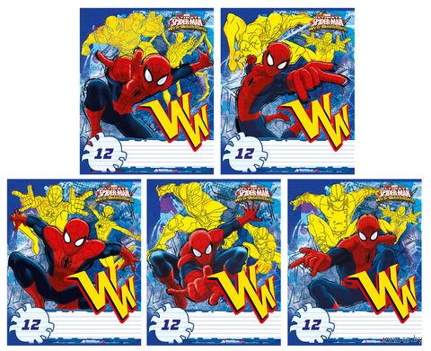 """Тетрадь в линейку """"Spider-man Classic"""" (12 листов; в ассортименте)"""