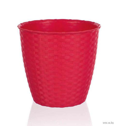 Цветочный горшок (19 см; красный) — фото, картинка