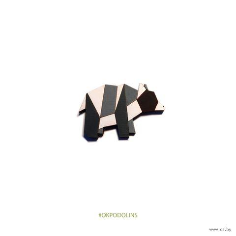 "Значок ""Медведь-оригами"" (арт. 66-1) — фото, картинка"