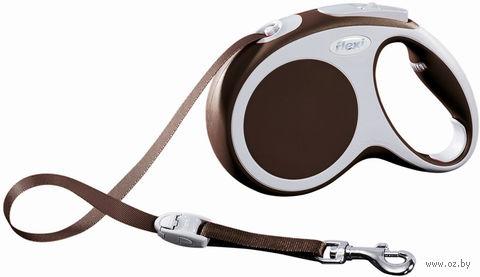 """Поводок-рулетка для собак """"Vario"""" (коричневый, размер M, до 25 кг/5 м, арт. 12077)"""