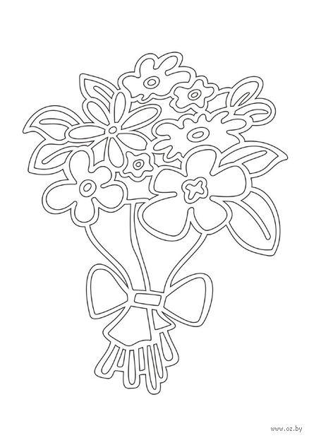 """Трафарет для рисования песком """"Букет цветов"""" (А4)"""
