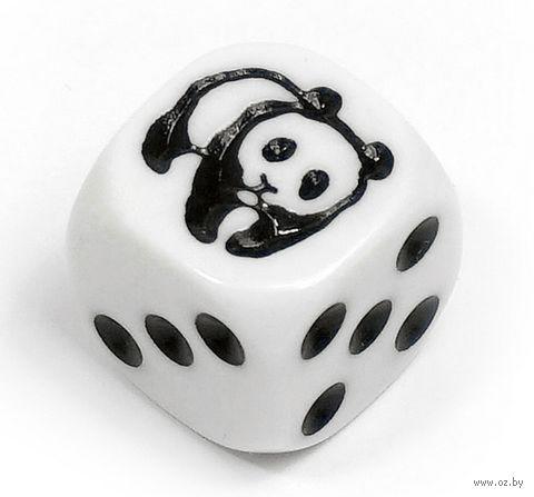 "Кубик D6 ""Панда"" (белый) — фото, картинка"