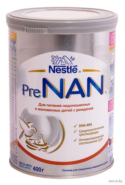"""Сухая молочная смесь PreNAN """"Для маловесных и недоношенных детей"""" (400 г) — фото, картинка"""