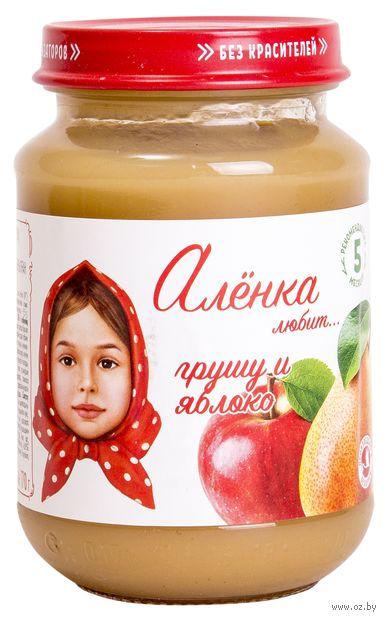 """Детское пюре """"Алёнка любит. Груша-яблоко"""" (170 г) — фото, картинка"""