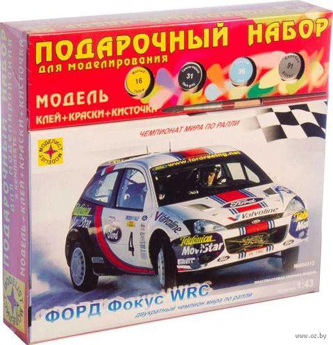 """Сборная модель """"Автомобиль Форд Фокус WRC"""" (масштаб: 1/43; подарочный набор) — фото, картинка"""