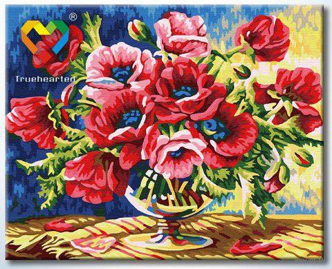 "Картина по номерам ""Алые маки"" (400x500 мм; арт. HB4050290)"