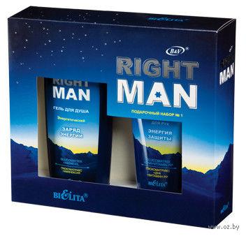 """Подарочный набор """"Right Man"""" (гель для душа, крем)"""