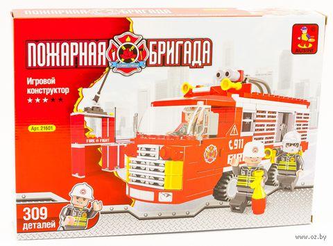 """Конструктор """"Пожарная бригада. Машина"""" (309 деталей) — фото, картинка"""