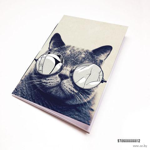 "Блокнот ""Кот в очках"" (А7; арт. 812) — фото, картинка"