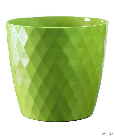 """Цветочный горшок """"Кристалл"""" (12 см; зеленый) — фото, картинка"""