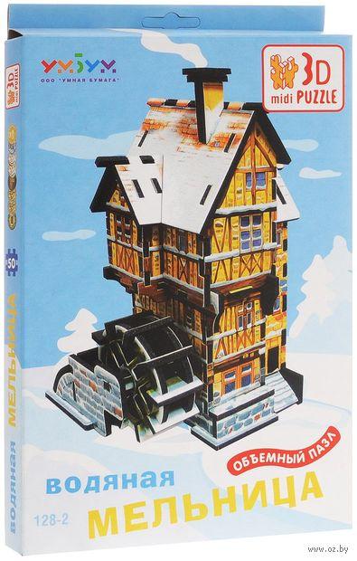 """Сборная модель из картона """"Водяная мельница. Зима"""" — фото, картинка"""
