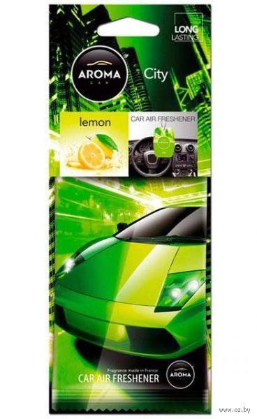 "Ароматизатор подвесной ""City Card"" (lemon) — фото, картинка"