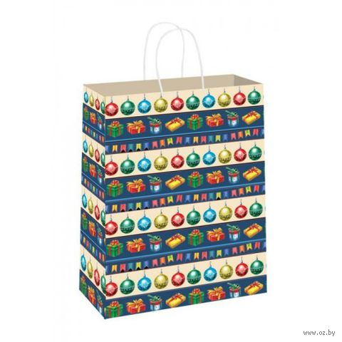 Пакет бумажный подарочный (33х26х13 см; арт. 35198)