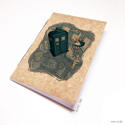 """Блокнот крафт """"Доктор Кто. Тардис и Алиса"""" А6 (012)"""
