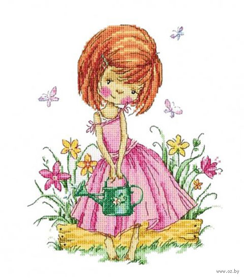 """Вышивка крестом """"Бабочки в моем саду"""""""