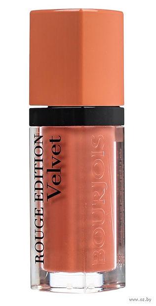 """Помада-флюид для губ """"Rouge edition velvet"""" (тон: 16, светло-персиковый) — фото, картинка"""