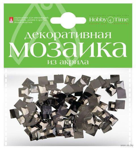 Мозаика декоративная из акрила №29 (8х8 мм; 100 шт.; черный) — фото, картинка