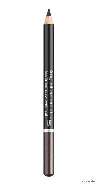 "Карандаш для бровей ""Eye Brow Pencil"" (тон: 5, dark grey) — фото, картинка"