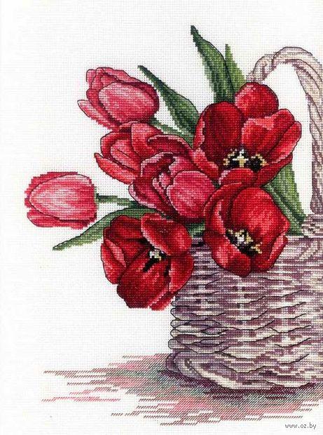 """Вышивка крестом """"Цветы счастья"""" (300х250 мм) — фото, картинка"""