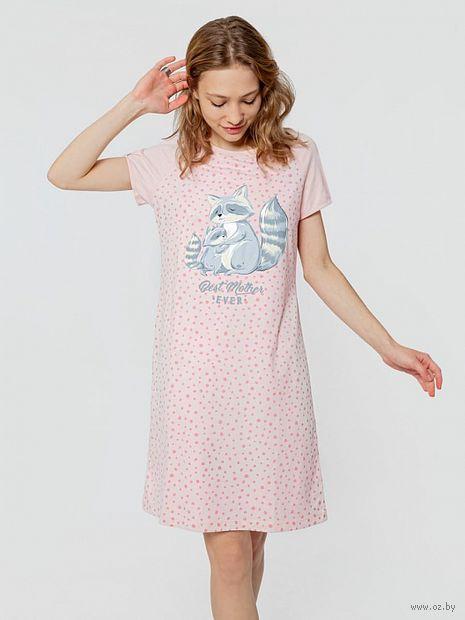 """Сорочка ночная женская """"512062"""" (розовый) — фото, картинка"""